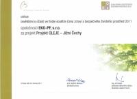 Projekt pro města a obce - Projekt ekologie – účast v soutěži Business Leaders Forum- pod záštitou MŽP ČR.
